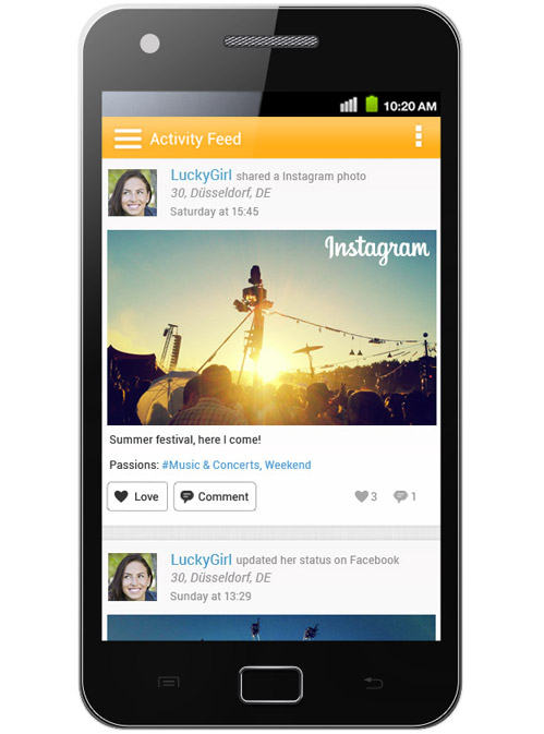 iLove Discovery Feed